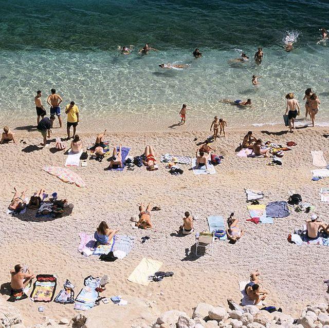 Sun tanning, People on beach, Beach, Sand, Tourism, Summer, Coast, Sea, Vacation, Fun,