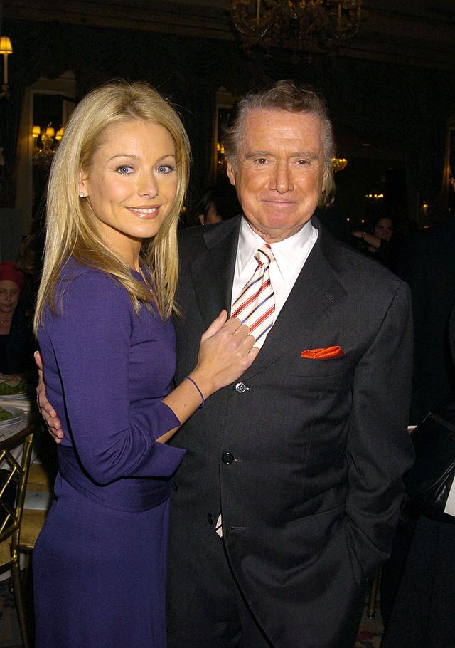 kelly ripa and regis philbin during 16th annual pal women of the year luncheon honoring kelly ripa and paula zahn at the pierre hotel in new york city, new york, united states photo by robin platzerfilmmagic