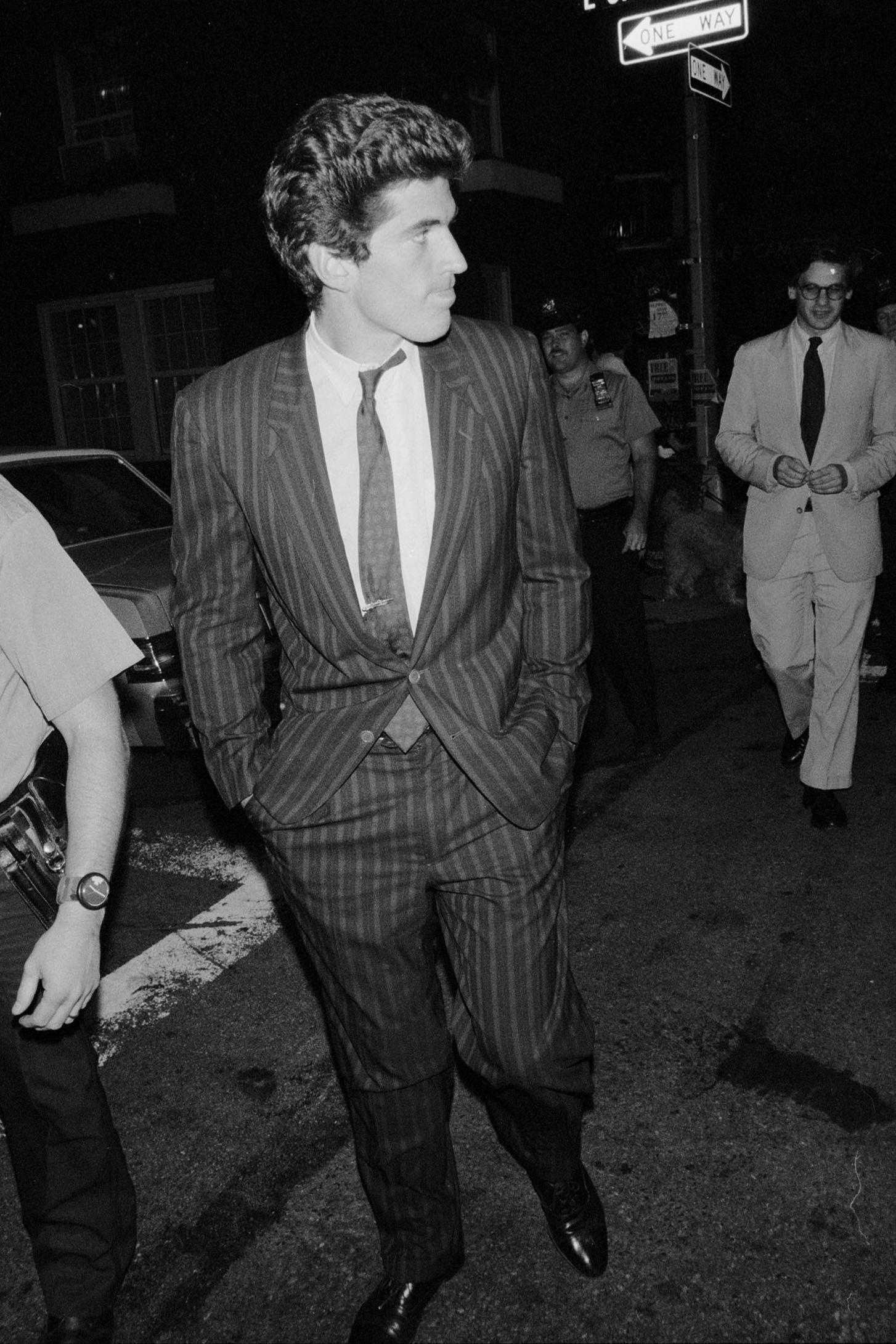 John Kennedy Jr. out in New York on August 1, 1990.