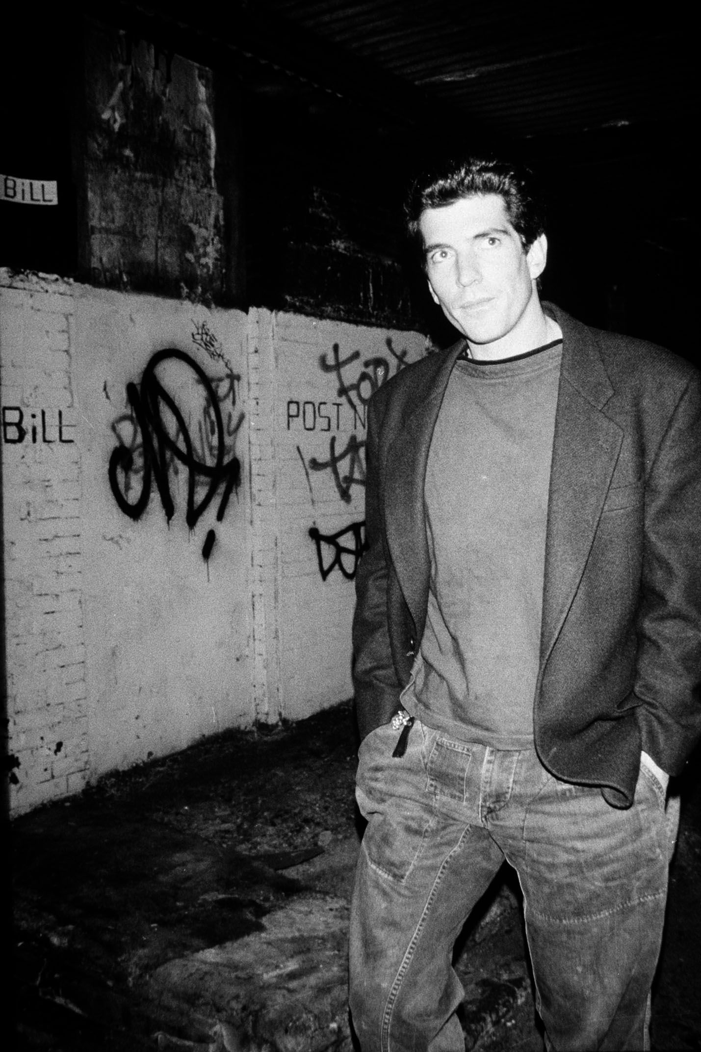 John F. Kennedy Jr. out in NYC in 1993.