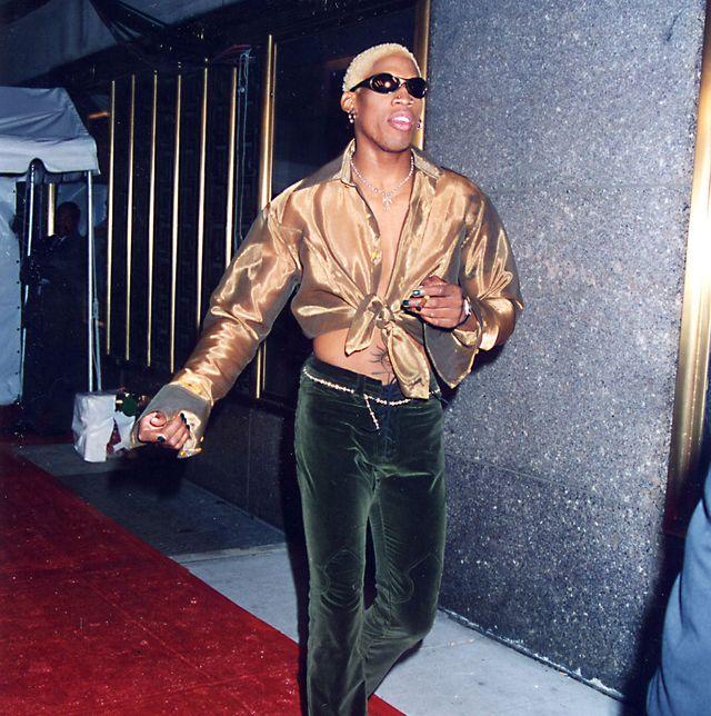 Dennis Rodman Basketball Celebrity Street Style - Dennis Rodman's '90s Style