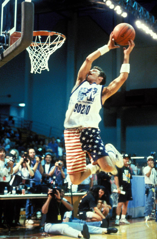 Perry during 1991's MTV Rock 'n Jock Basketball game in Los Angeles.