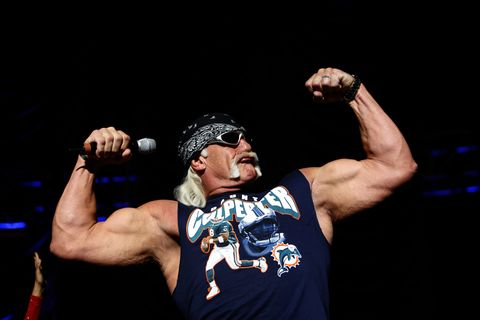 hulk hogan during z100s jingle ball 2006 in fort lauderdale at bank atlantic center in fort lauderdale, florida, united states photo by rodrigo varelawireimage