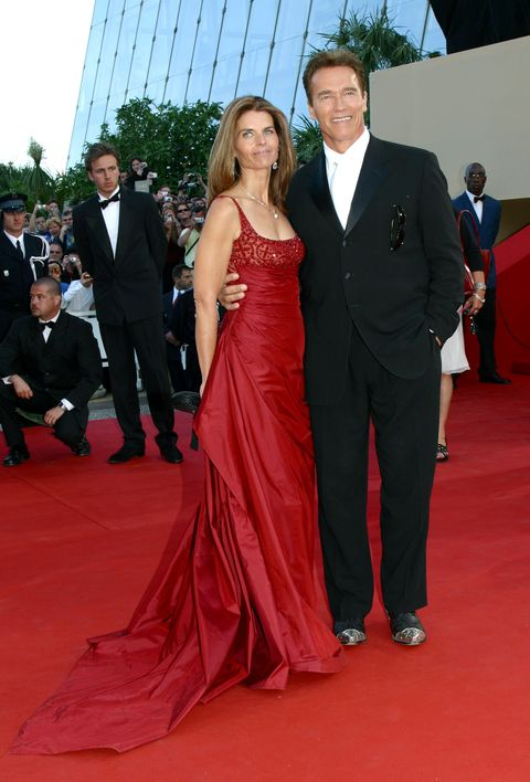 maria shriver and arnold schwarzenegger during 2003 cannes film festival   les egares premiere at palais des festival in cannes, france photo by jean baptiste lacroixwireimage