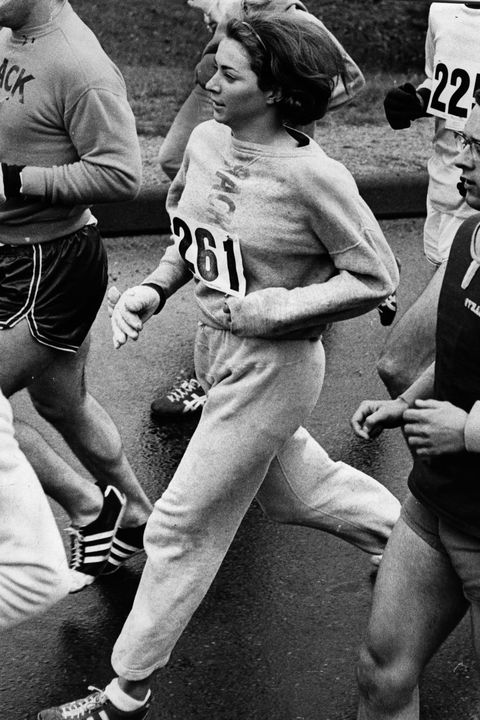 Kathy Switzer And Rocky Chamerlain In The Boston Marathon