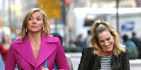 Hair, Street fashion, People, Fashion, Pink, Blond, Outerwear, Beauty, Yellow, Blazer,
