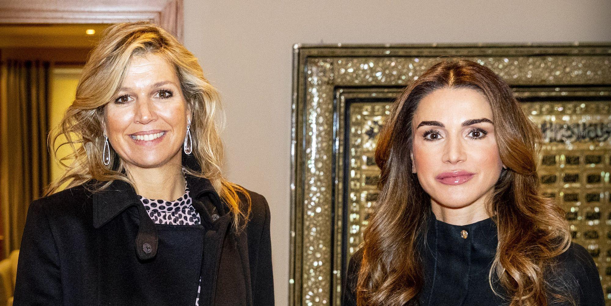 Maxima en Rania in Jordanië, 12 februari 2019.