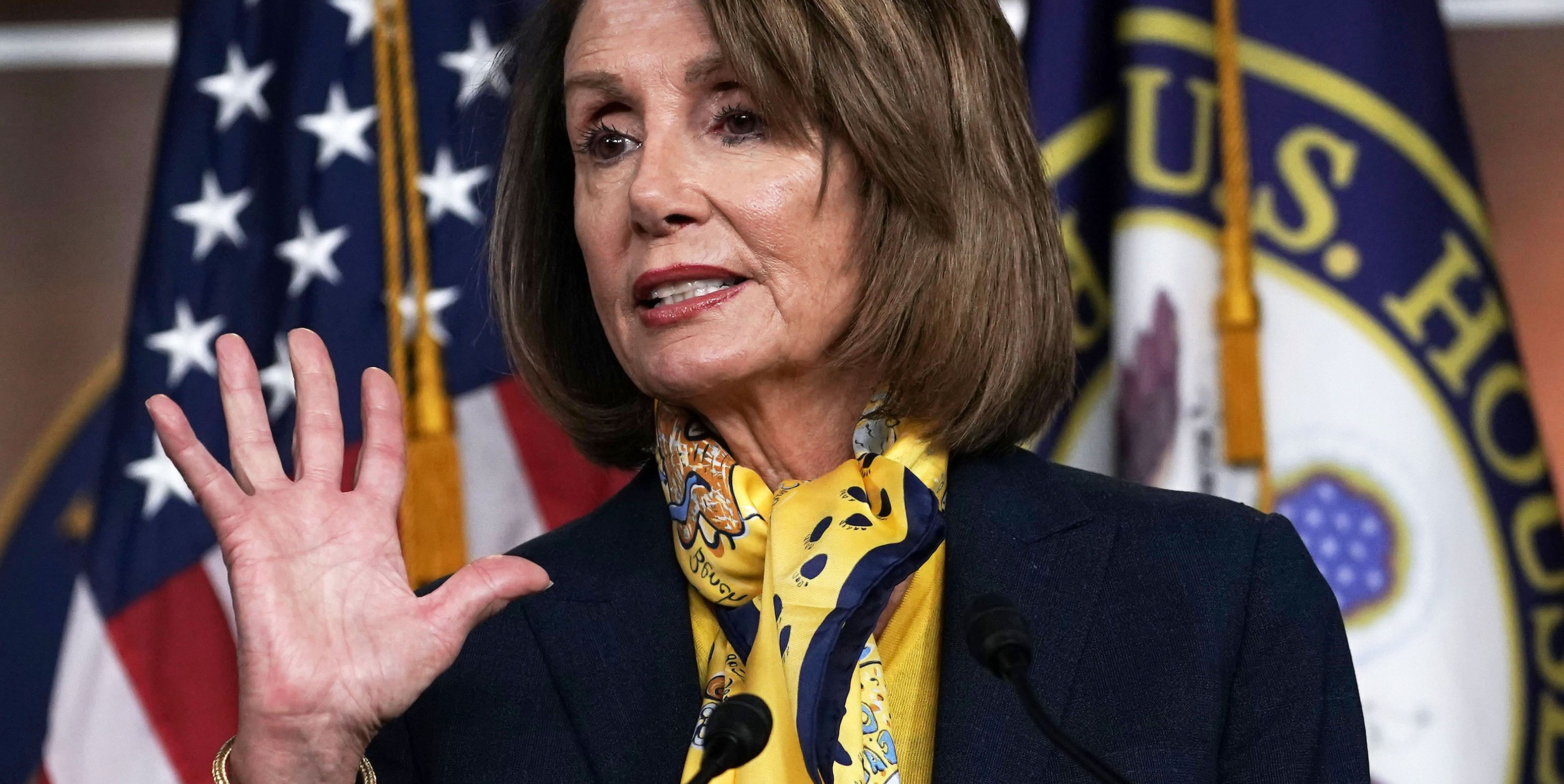 House Speaker Nancy Pelosi Holds Weekly News Conference At The Capitol