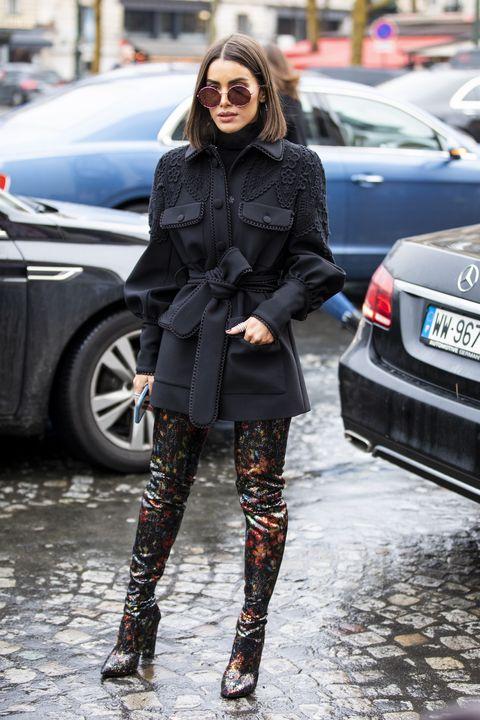 Street fashion, Clothing, Tights, Photograph, Fashion, Footwear, Knee-high boot, Leggings, Snapshot, Leg,
