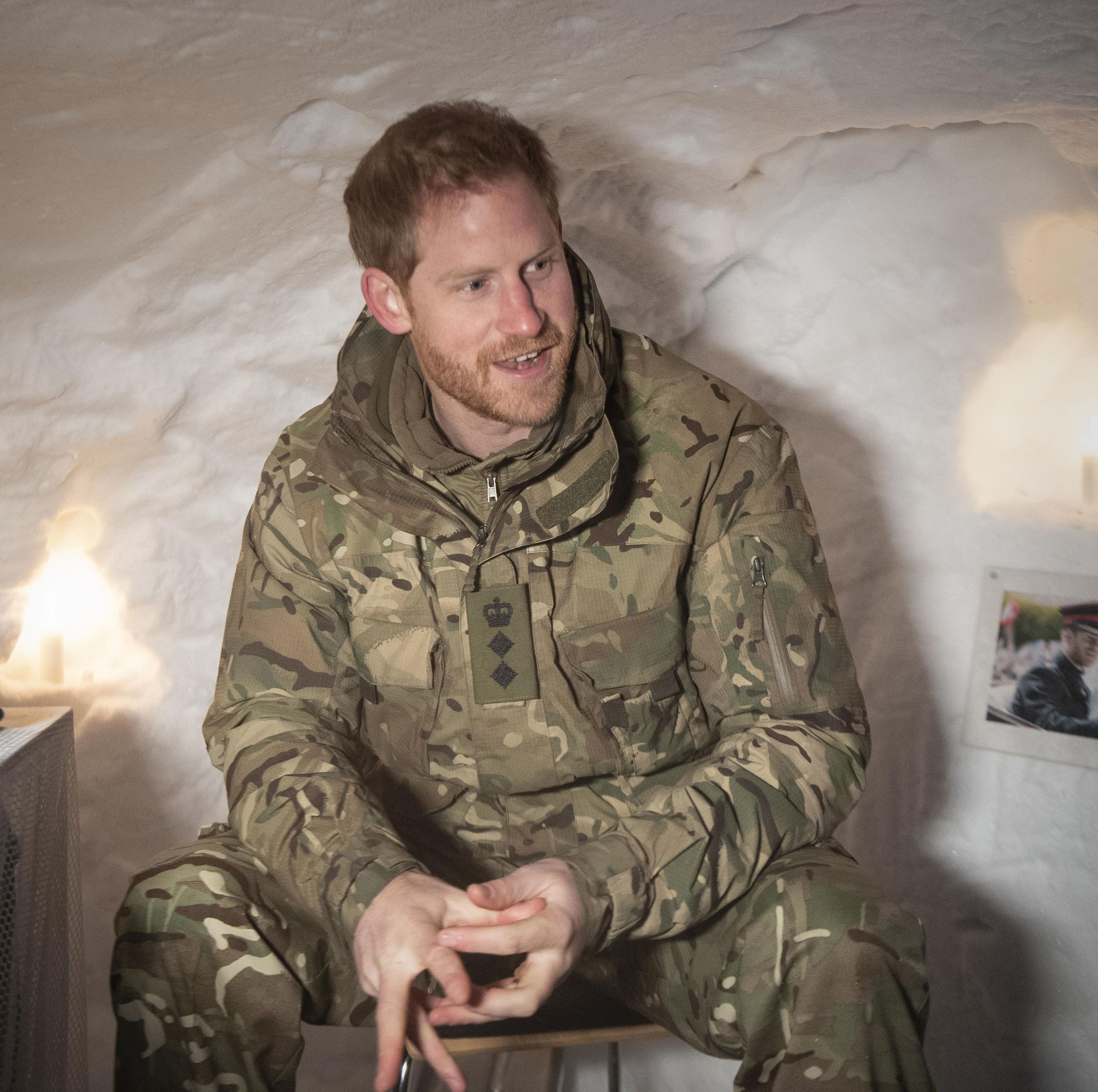 Prince Harry Had To Sit In A Shrine Of Meghan Markle On Valentine's Day And His Reaction Is Amazing