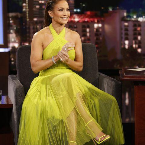 Yellow, Clothing, Dress, Green, Fashion, Beauty, Shoulder, Cocktail dress, Fashion design, Formal wear,