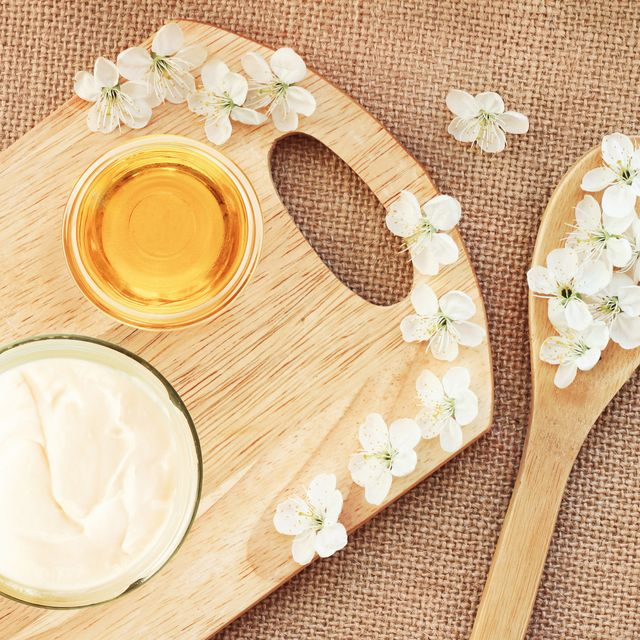 canvas  wooden board background, preparation diy cosmetics healthy lifestyle