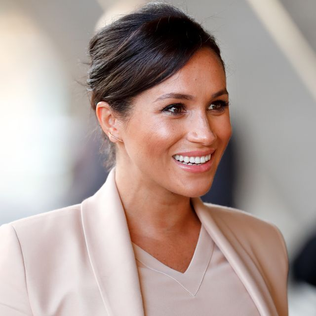 london, united kingdom   january 30 embargoed for publication in uk newspapers until 24 hours after create date and time meghan, duchess of sussex visits the national theatre on january 30, 2019 in london, england it was announced earlier this month that the duchess would become patron of the national theatre, one of two patronages passed on by queen elizabeth ii photo by max mumbyindigogetty images