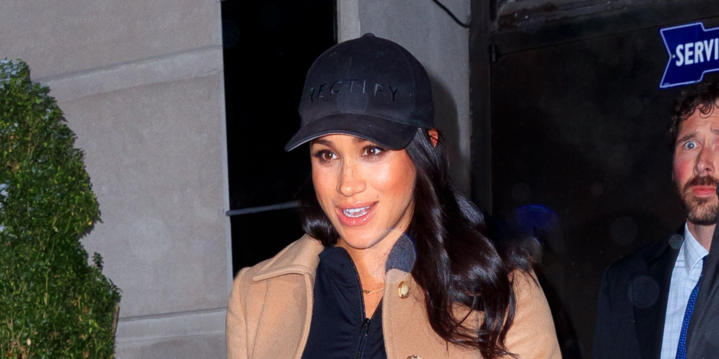 Meghan Markle Wears Mummy Necklace In New York For Her Baby Shower