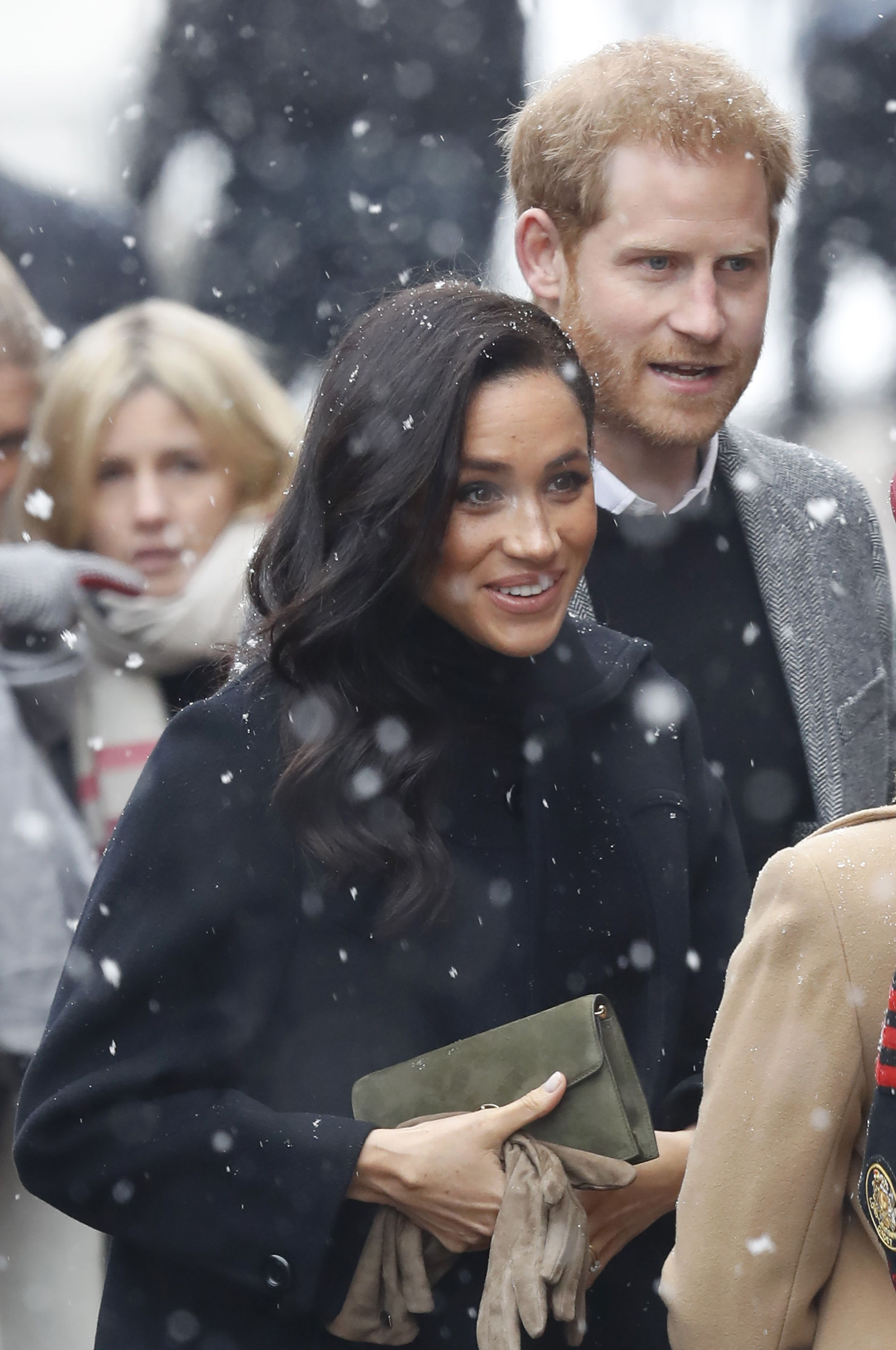 royal family in the snow