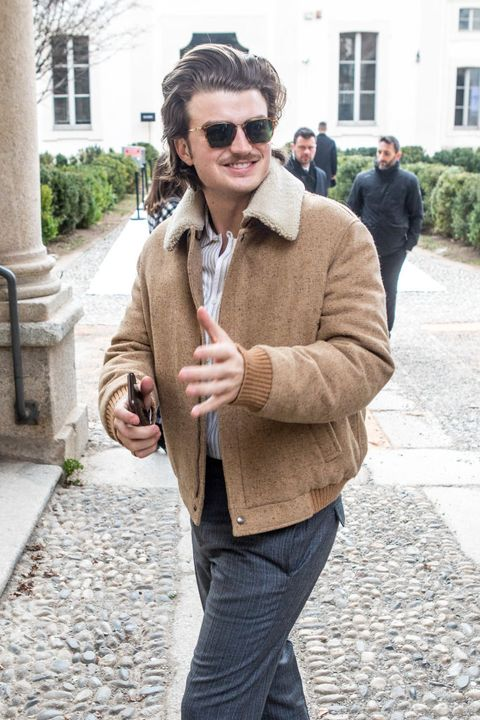 joe keery  is seen on day 4 milan fashion week autumnwinter 201920 on february 23, 2019 in milan, italy photo by mairo cinquettinurphoto via getty images