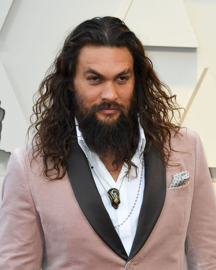 Jason Momoa (and beard) In the books, Khal Drogo has a long, drooping mustache.