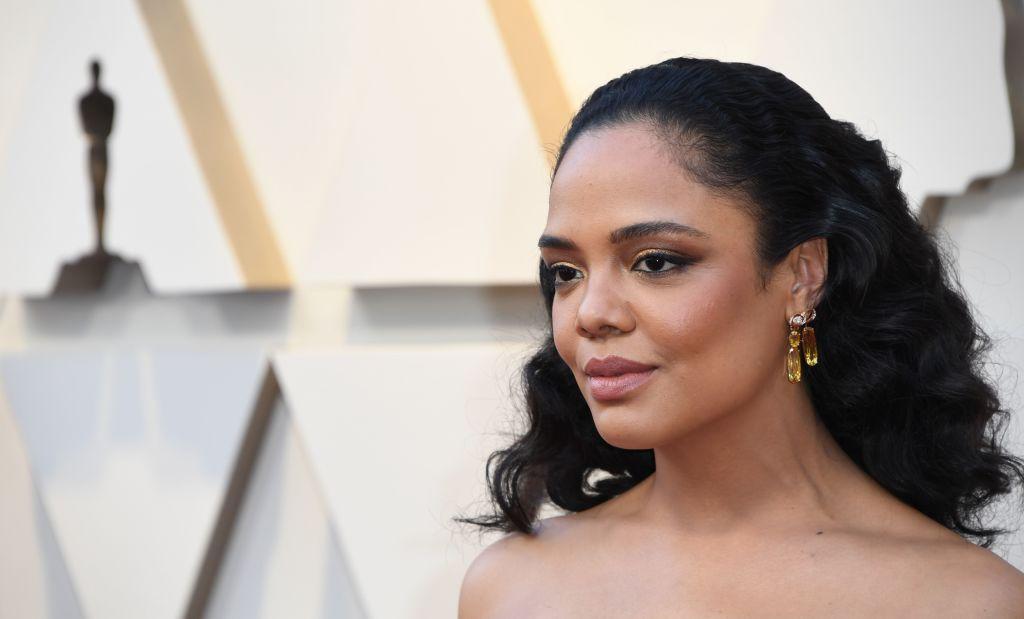 e0f2e641557661 Oscars 2019 Fashion: Tessa Thompson's Look Is An Ode To Karl Lagerfeld