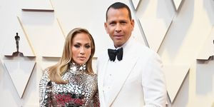Jennifer Lopez and Alex Rodriguez at the Oscars 2019