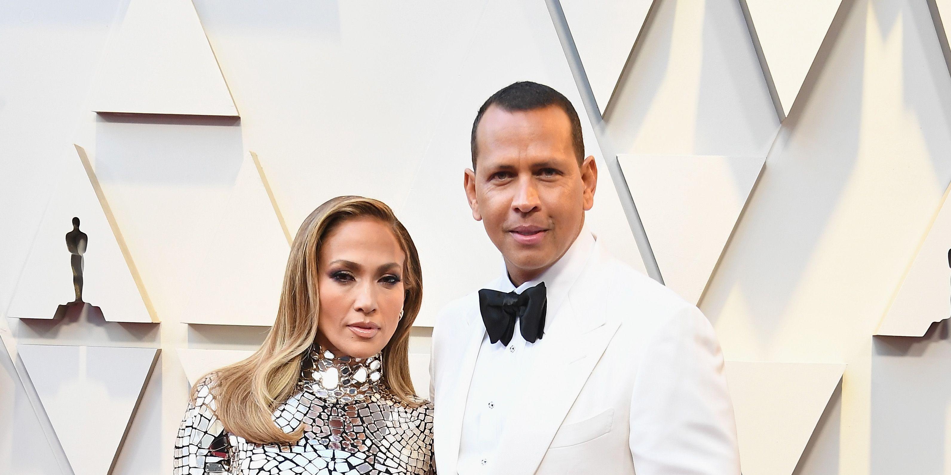 Jennifer Lopez and Alex Rodriguez at the Oscars 2019