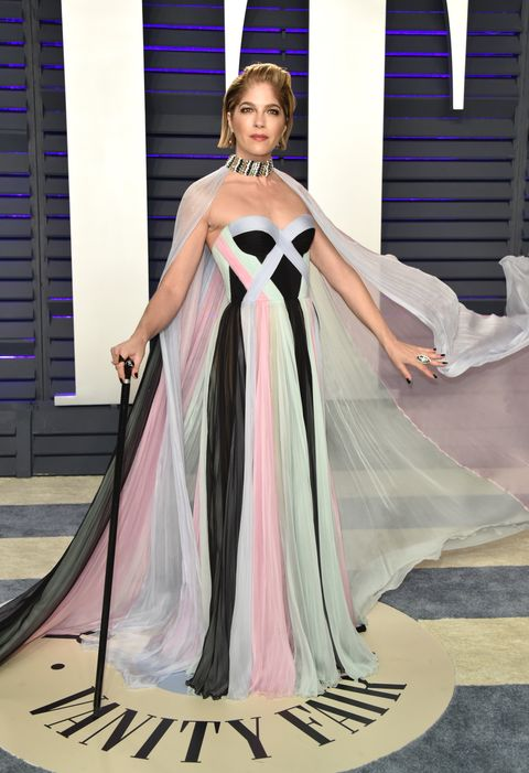 Dress, Gown, Clothing, Fashion model, Shoulder, Fashion, Formal wear, Pink, Haute couture, Bridal party dress,