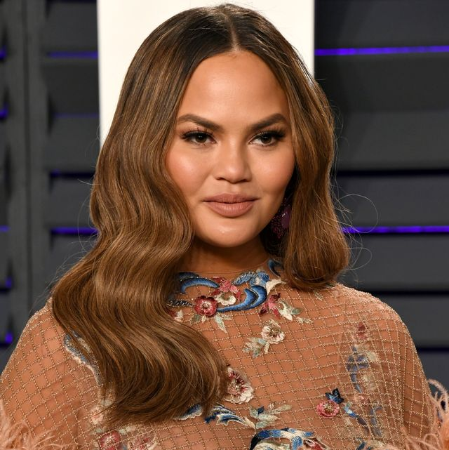 beverly hills, ca   february 24  chrissy teigen attends the 2019 vanity fair oscar party hosted by radhika jones at wallis annenberg center for the performing arts on february 24, 2019 in beverly hills, california  photo by jon kopaloffwireimage