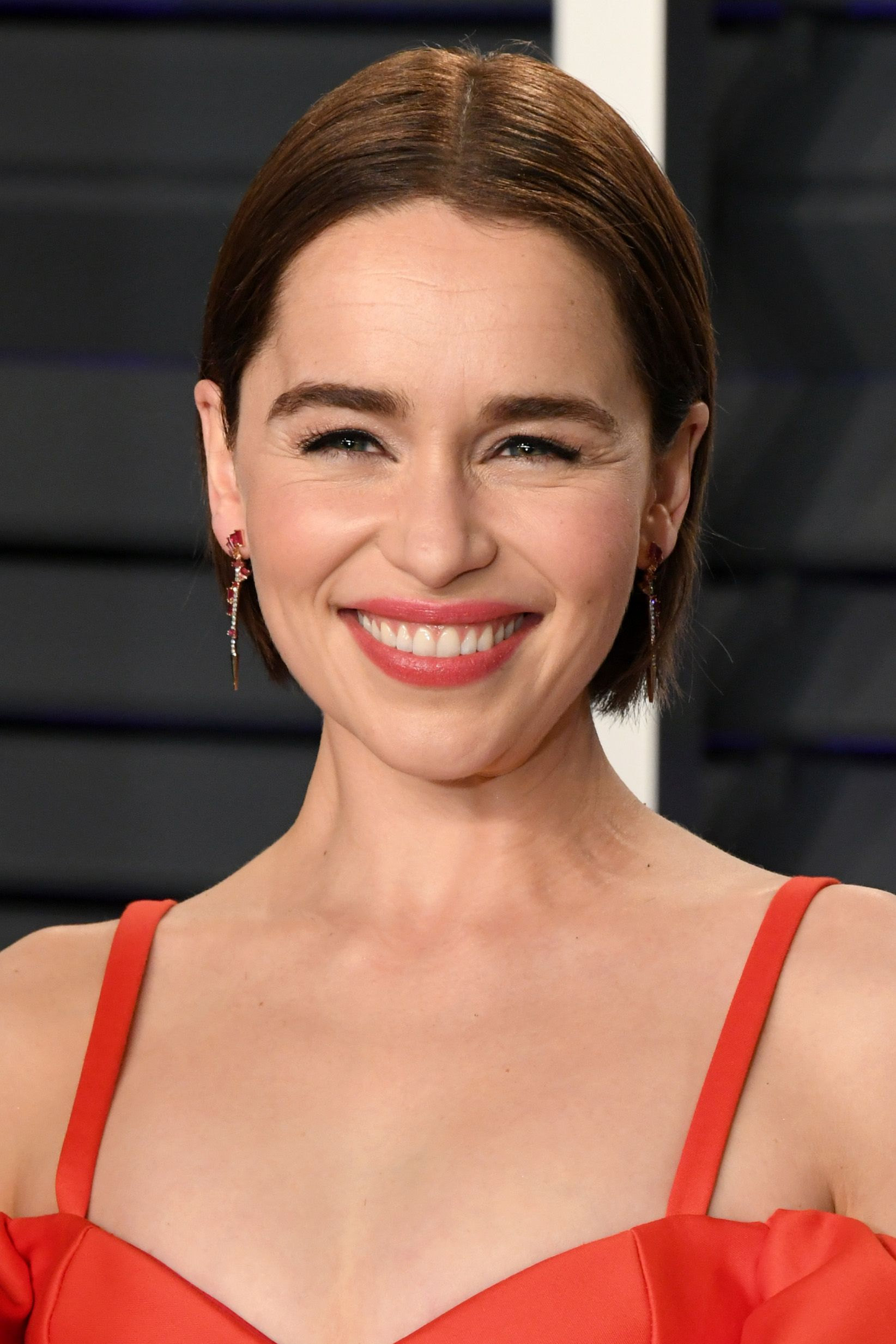 Emilia Clarke's Chestnut Brown Bob