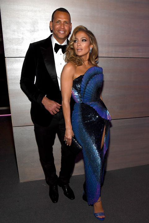 Jennifer Lopez and Alex Rodriguez at the Vanity Fair Oscars Party 2019