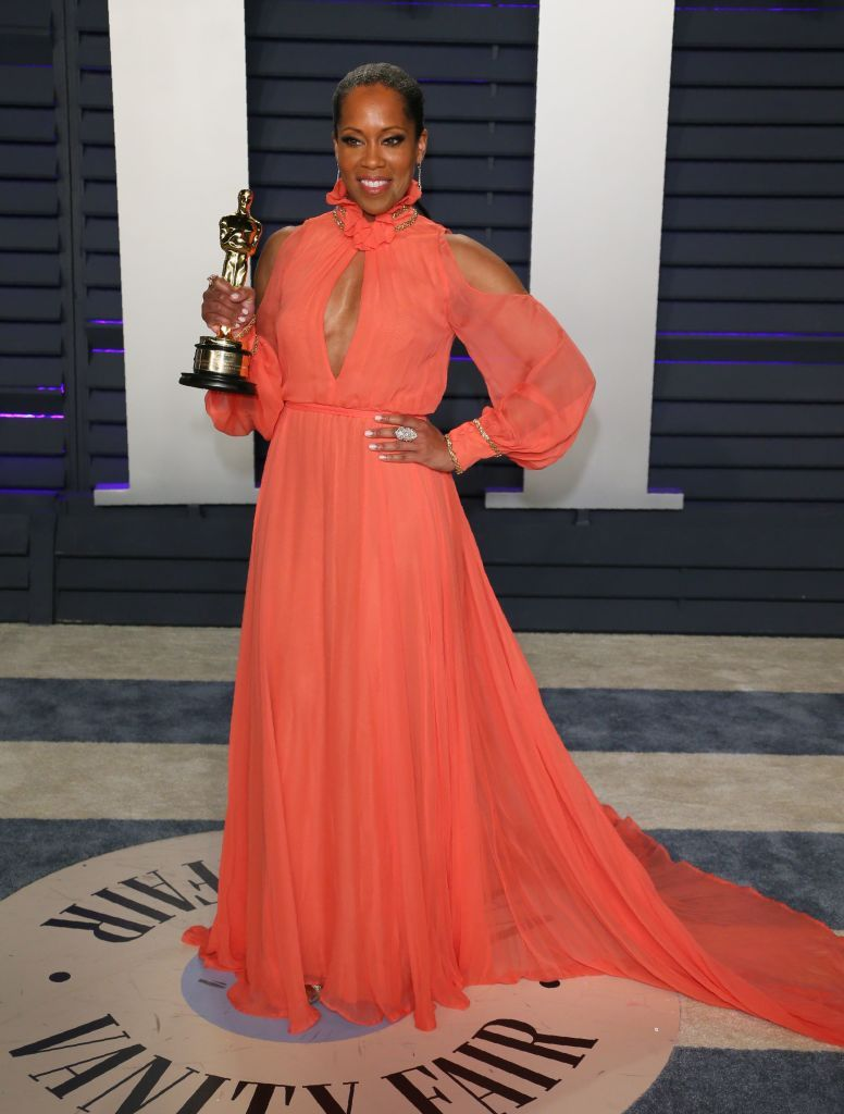Regina King Regina King celebrates Vanity Fair's Oscars After-Party with Belvedere Vodka at the Wallis Annenberg Center in LA on February 24.