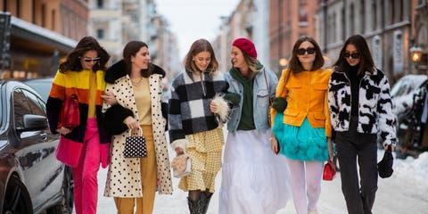 Photograph, People, Street fashion, Yellow, Fashion, Snapshot, Street, Pedestrian, Fun, Dress,
