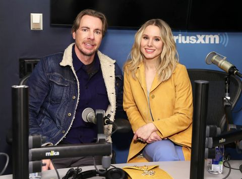 new york, ny   february 25  actors dax shepard and kristen bell visit the siriusxm studios on february 25, 2019 in new york city  photo by cindy ordgetty images