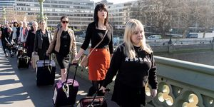 These women used suitcases to make an important protest against abortion laws