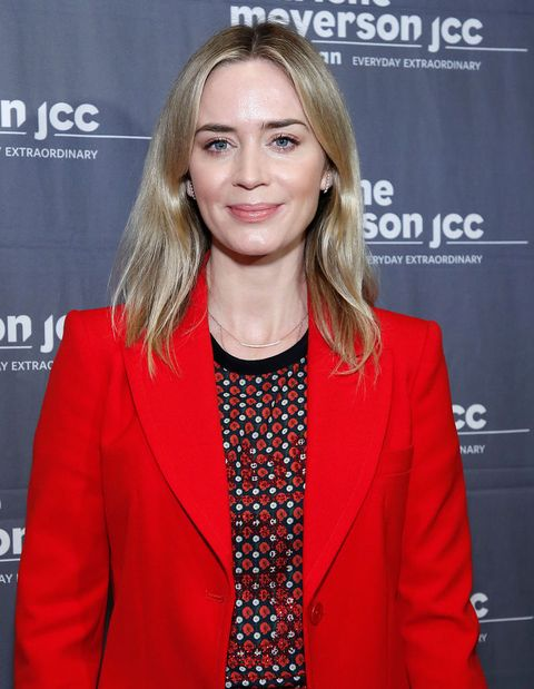 new york, new york   february 05 emily blunt attends to dust new york screening at the jcc on february 05, 2019 in new york city photo by john lamparskigetty images