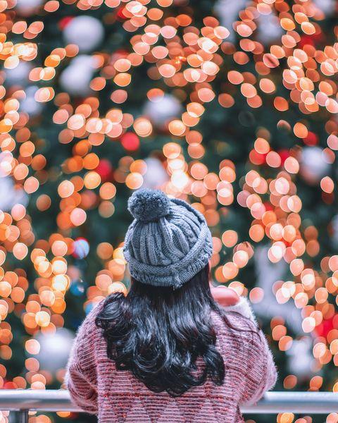 Woman at Christmas