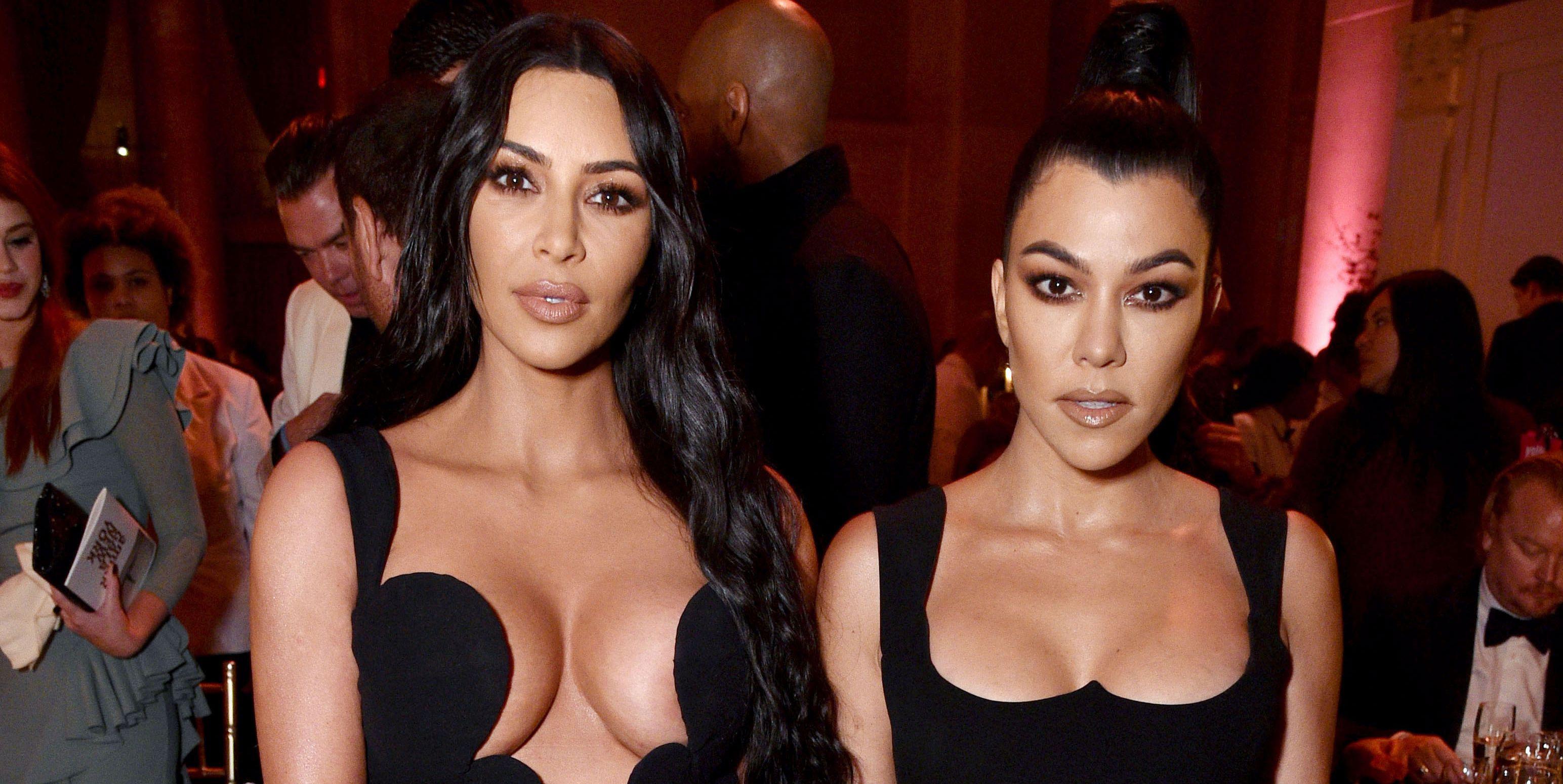 Kim And Kourtney Kardashian Schooled Us In Daring Necklines At The AmfAR Gala Last Night