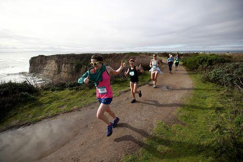 Running, Outdoor recreation, Ultramarathon, Recreation, Long-distance running, Sky, Trail, Water, Fell, Fun,