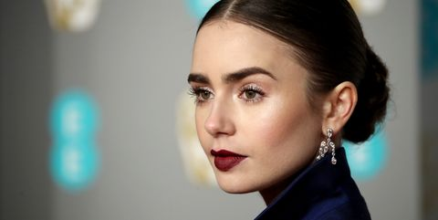 Lily Collins at the 2019 Baftas