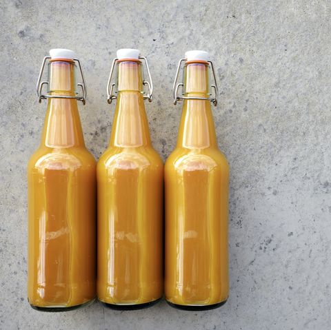 Three Bottles of Home Made Kombucha Tea