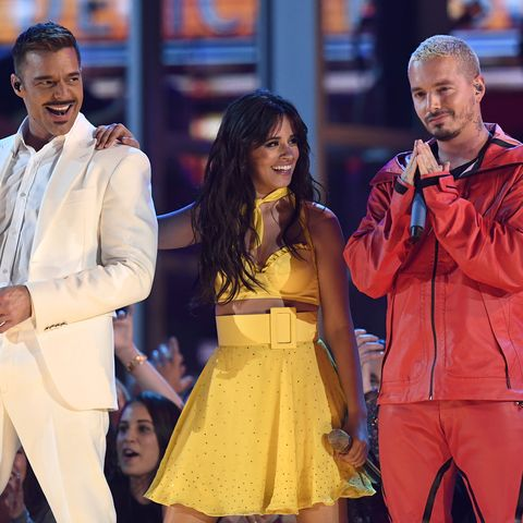 Camila Cabello, Ricky Martin, J Balvin at the 2019 GRAMMYs