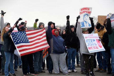 lordstown protestor