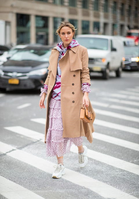 Clothing, Street fashion, Pink, Photograph, Fashion, Snapshot, Outerwear, Coat, Footwear, Trench coat,