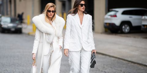 guests seen outside zadig  voltaire during new york fashion week autumn winter 2019 on february 11, 2019