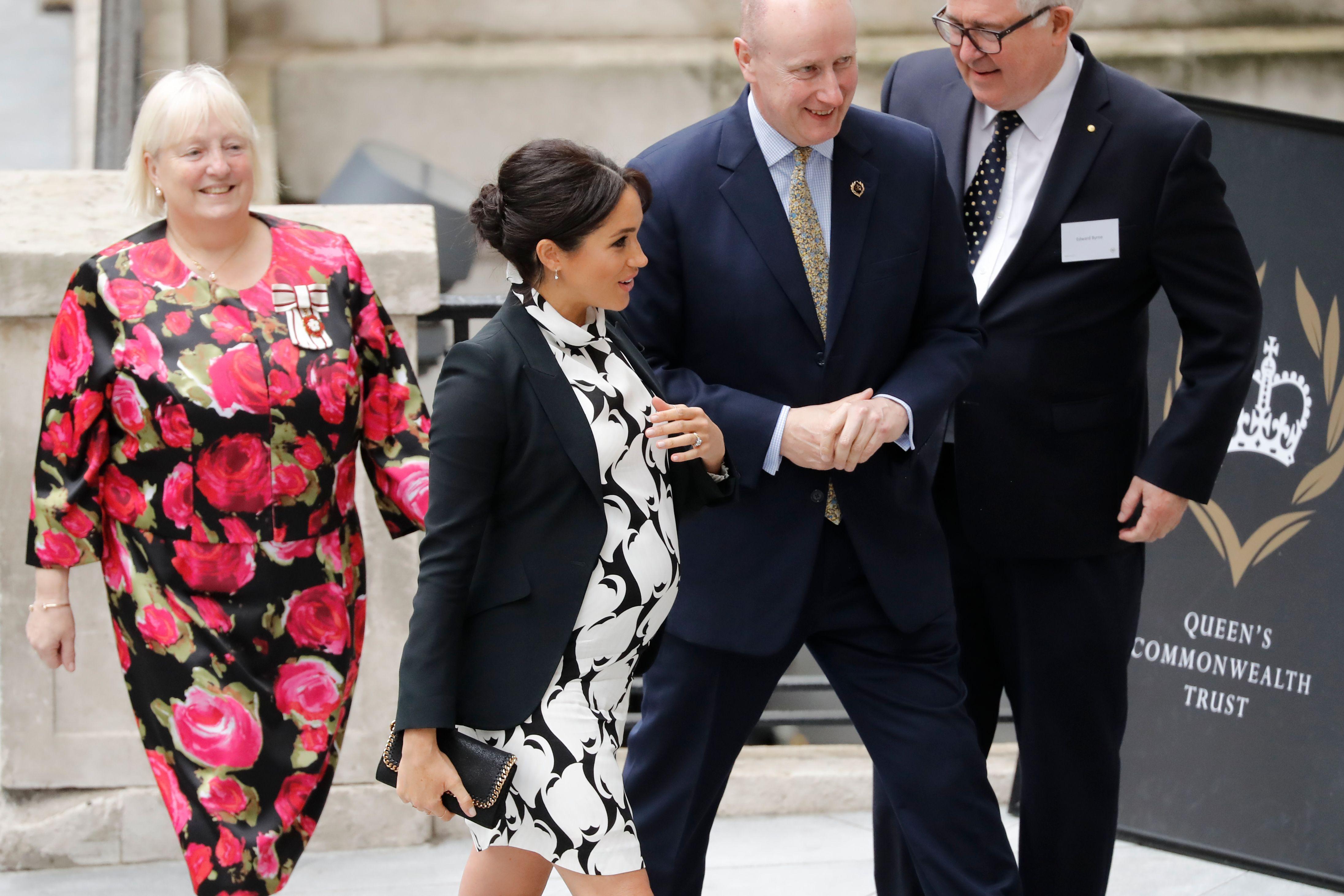 fc443c97 Meghan Markle Wears Suffragette White To Attend International Women's Day  Panel 2019
