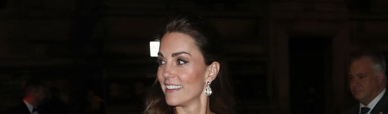 cbda5b97e9f9 Kate Middleton Wears Gorgeous Two-Tone Gucci Dress to Gala Dinner At The V&A