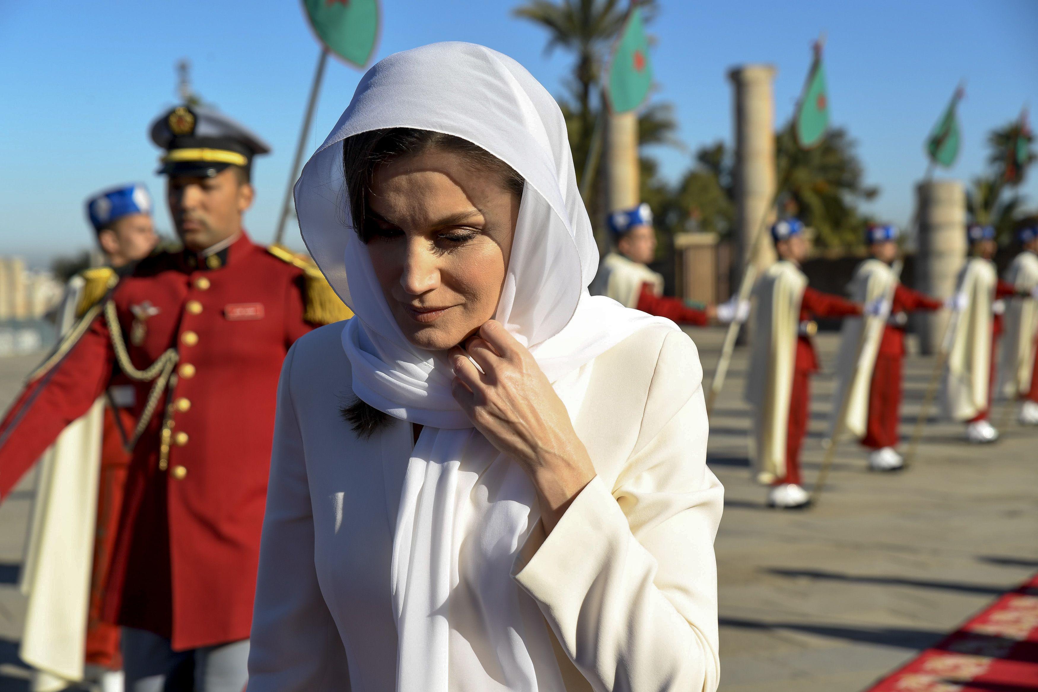 look de letizia en marruecos
