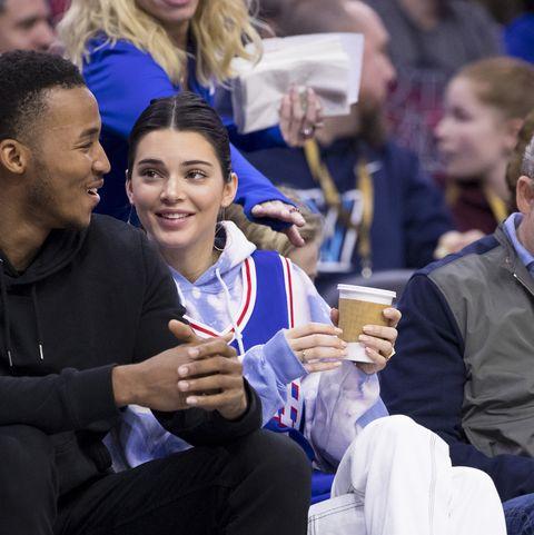 Kendall Jenner philadelphia 76ers ben simmons