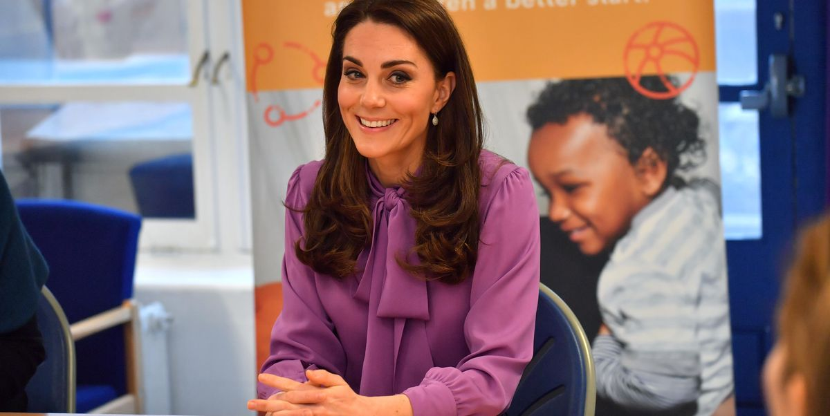 A rare day the Duchess chose trousers over a dress.