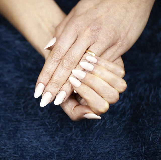 Nail, Finger, Hand, Manicure, Nail care, Cosmetics, Holding hands, Gesture, Interaction, Close-up,