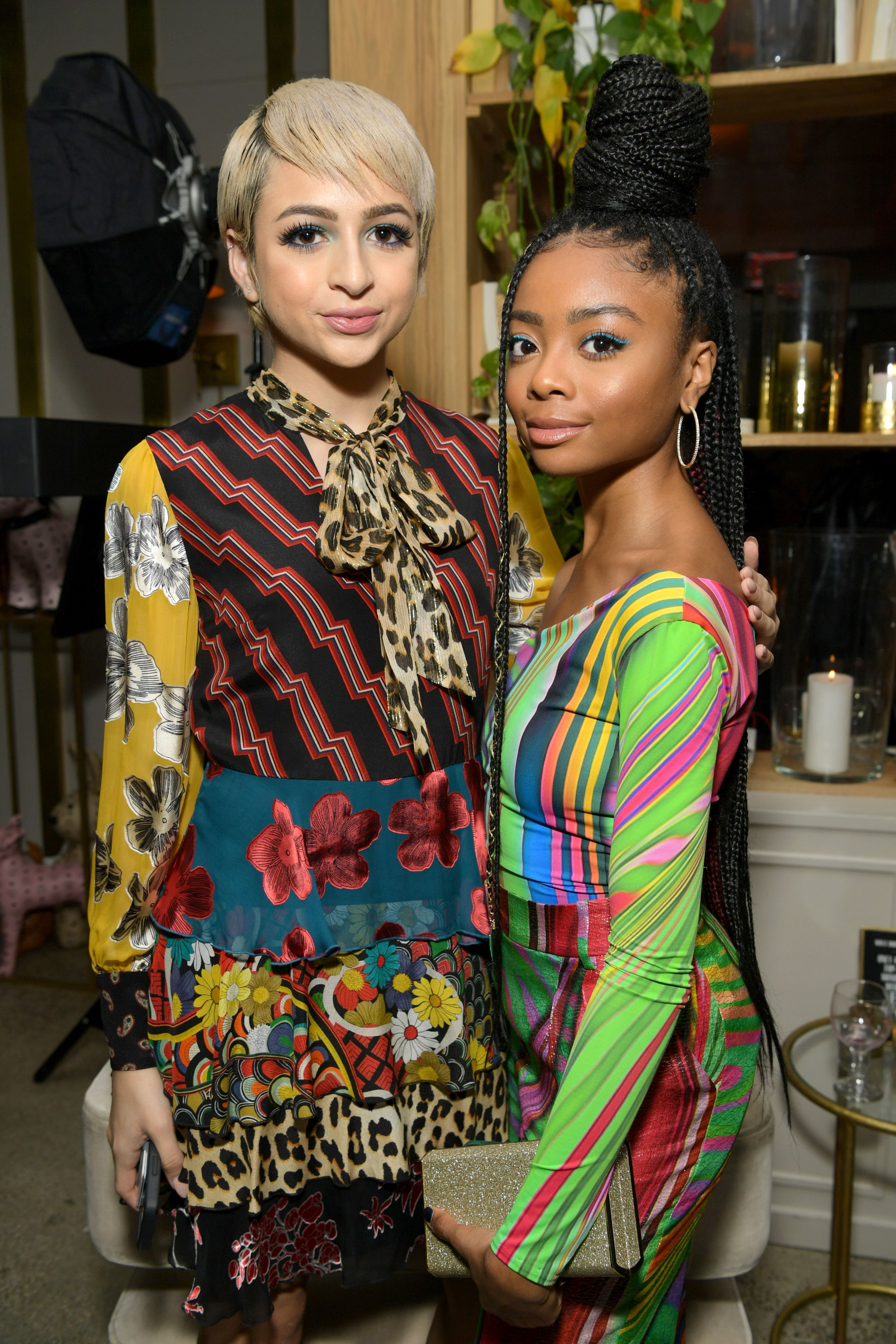 Josie Jay Totah and Skai Jackson at the Change Maker event in Los Angeles.