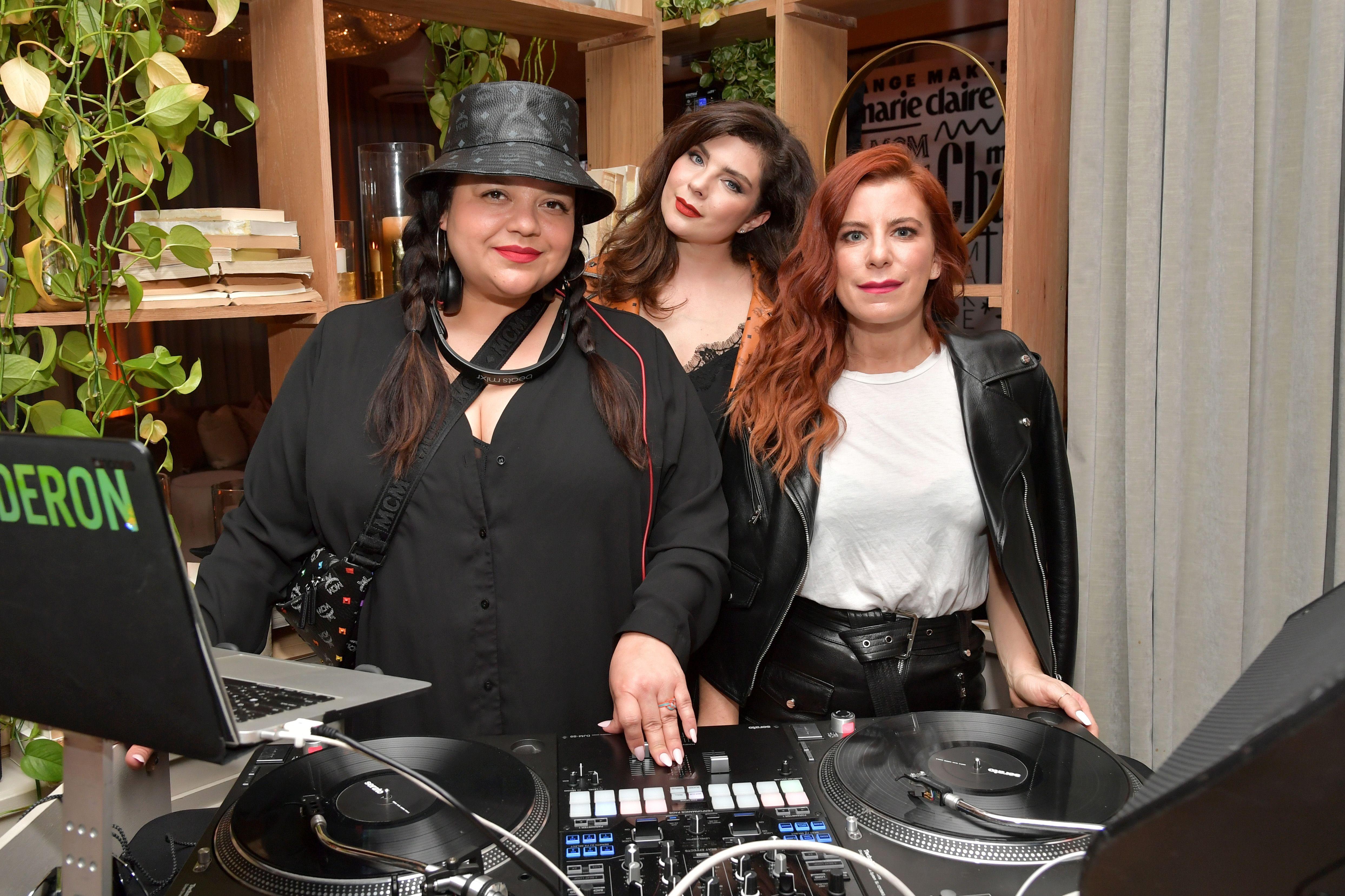 DJs Ana Calderon, Daisy O'Dell, and Michelle Pesce.
